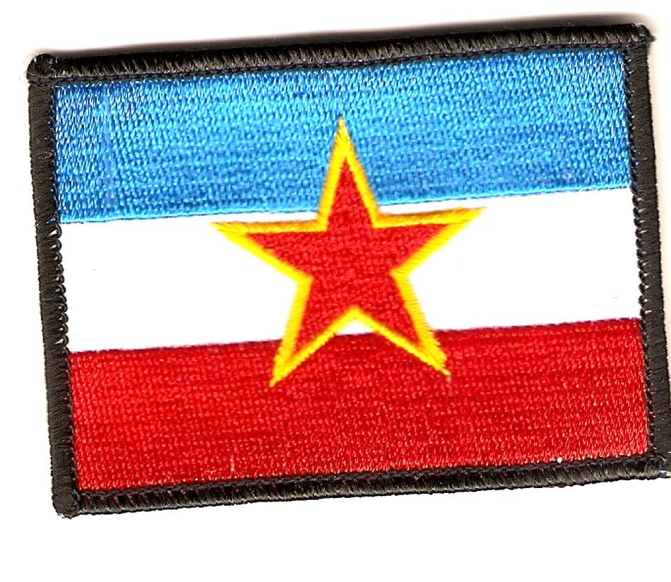 Fahne Flagge Flag  JUGOSLAWIEN Aufnäher Patch Abzeichen Kutte